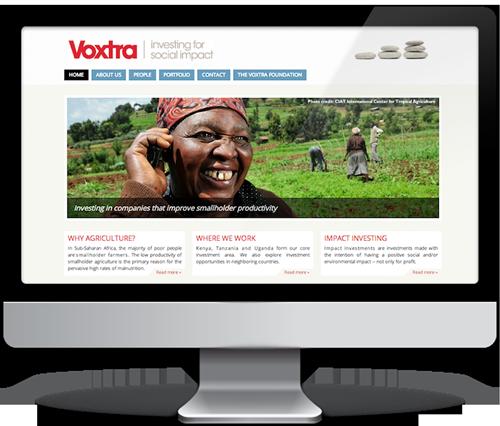 Preview of Voxtra website